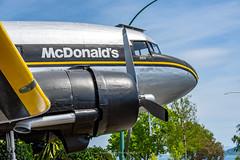 The Worlds Coolest McDonalds (Mark_Aviation) Tags: the worlds coolest mcdonalds dc3c is originally built october 1943 for usaaf c47a65dl dc3 dakota dak c47 c47a zkkaw 41100460 taupo new zealand nz world