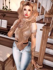 Home (Ćɑɳɖγ) Tags: slhairstyle sl secondlife style fashion photo bento pose tattoo
