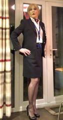 Cabin crew wearing stockings 😘 (davinaleggs1) Tags: britishairways highheels sissy cuckold crossdress transvestite blackstockings cabincrew fabulous