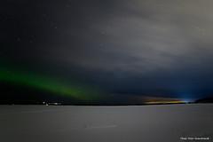 Northern light! (petergranström) Tags: approved northern light lake sjö stars stjärnor snow snö clouds moln