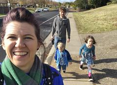 Walking From The Park (evaxebra) Tags: roseville trip december 2019 road park playground slide ewa luna ash ryan family walk walking mike group