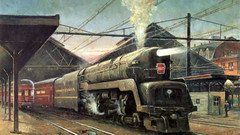 PRR T1 Locomotive Art Painting! (844steamtrain) Tags: 844steamtrain prr pennsylvania railroad t1 trust flickr 5550 4444 big steam locomotive fastest up boy 4014 sp 4449 lner flying scotsman mallard america usa 3985 844 most popular views viewed railway train trains trending relevant recommended related shared google youtube facebook galore viral culture science technology history union pacific engine metal machine art video camera photography photo black and white monochrome picture bw blackandwhite best top trump news new sp4449 up4014