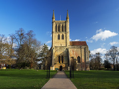 Pershore Abbey from the west (jhaydnreynolds) Tags: pershore abbey worcestershire england dissolution monasteries