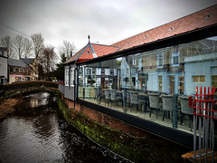 Reflections of Strathaven (ALANSCOTT1) Tags: bar strathaven taal restaurant reflections rainy wet windy lanarkshire scotland