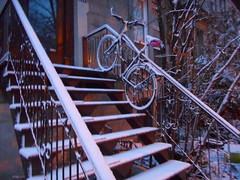 Snow Go (navejo) Tags: montreal quebec canada stairs snow bike mcgill ghetto