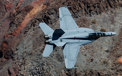 Running the Canyon (Newage2) Tags: death valley lowlevel lowflying f18 hornet jets jet rainbowcanyon usa california