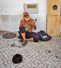 Street Musician - Portugal (mikederrico69) Tags: guitar man street musician beggar algarve europe singer sing albufeira beard beg vacation travel trip