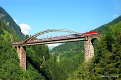 (Artemis & Nikos Klonos) Tags: austria normalgauge passengertrain nk railbridge br1044 2004 electric obb trisannabruecke