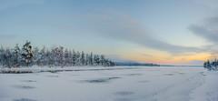 Winter eve in Lapland (ikkasj) Tags: lapland jerisjärvi muonio finland panorama landscape snow ice nature winter