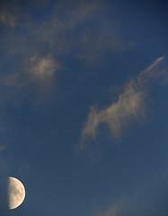 DSC_00340 (Lorgnon mélancolique / Melancholy spectacles) Tags: lune moon ciel nuit sky night