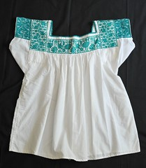 Nahua Blouse Blusa Puebla Mexico (Teyacapan) Tags: blusa nahua blouses mexican puebla embroidered ropa indumentaria cuetzalan