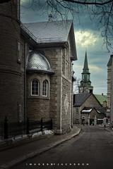 Quebec City 2018 (John Hoadley) Tags: holytrinitychurch ruedonnaconai quebeccity quebec 2018 december canon eosr 1740 f10 iso800 steeple church