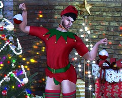 Prepared For Christmas (Bryan Trend) Tags: head lelutka guy body belleza jake noche gacha set signature gianni hat collar accesory top thong stockings decor {what next} tree animations male men new blog post model blogger secondlife sl second life