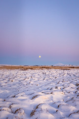 Iceland (Woyciech Zet) Tags: snow view iceland grassland nature sky way sunset mountains is landscape moon
