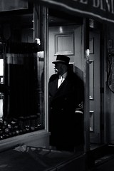 Dems di Rules (Rob Crossingham) Tags: london doorman rules restaurant night monochrome fujifilm xt3 acros covent garden