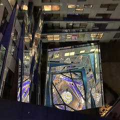 20191206_Cube view (Damien Walmsley) Tags: thecube christmasparty lights colour lookingdown