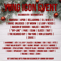 December (yungiconevent) Tags: yung icon yungicon event second life secondlife imvu shopping mall eyes bags purses phones makeup shoes dresses bails starbucks skins lashes chokers lipgloss poses shapes instagram flickr facebook store boots ads models christmas holiday necklace