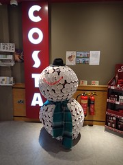 """It's beginning to look a lot like Costa!"" (Chris Hester) Tags: 486 huddersfield royal infirmary costa coffee snowman paper cups"