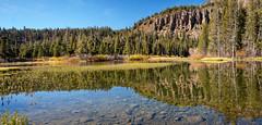 Twin Lakes (San Francisco Gal) Tags: twinlakes mammothlakes lake reflection cliff tree rock mountain easternsierra sierranevada