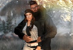 Keeping Warm (Ara ♥) Tags: templarposes sosevent doux thearcade justice fameshed vinyl anthem sl secondlife love couples winter poses