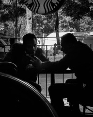 Businessmen (deivveed) Tags: ifttt instagram street streetphoto bnw monochrome blackandwhite city starbucks mobile people