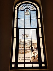 Photo of Stained Glass Memorial Window to Lord Dowding, Bentley Priory Museum - RAF Fighter Command HQ