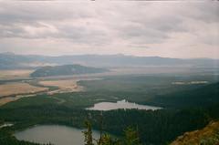 view over Bradley Lake and Taggart Lake (szmenazsófi) Tags: smenasymbol vista grandteton smena lomo analog analogue film 35mm outdoor nature hike hiking trail tetons grandtetonnationalpark garnetcanyon bradleylake taggartlake