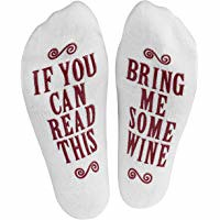 """Haute Soiree - Women's Novelty Socks - """"If You Can Read This, Bring Me Some"""" (Wine, Chocolate, Coffee) Novelty Socks (bestdealsforeverybody) Tags: me socks this wine you chocolate can womens read novelty soiree bring haute """"if some"""" coffee"""