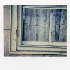 Polaroid - Window img951 (T. Brian Hager) Tags: polaroid polaroidspectra polaroidoriginals instant instantfilm film analog epson epsonv600 window abandoned curtain ruraldecay color