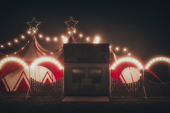 Closed (der_peste (on/off)) Tags: circus nightshot dark misty foggy haunted spooky tent