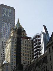 Pencil Tower looking South West from 53rd Street 1632 (Brechtbug) Tags: 2019 plaza hotel with building corner shadow 5th avenue 58th street new york city decoration holiday profile figure art architecture sunlight shadows buildings manhattan uptown midtown near nyc central park 12082019 sunny tower hotels view pencil looking west from ave 53rd st construction crain december winter apartment skyline cityscape scape sloping exterior