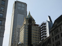 Pencil Tower looking South West from 53rd Street 1629 (Brechtbug) Tags: 2019 plaza hotel with building corner shadow 5th avenue 58th street new york city decoration holiday profile figure art architecture sunlight shadows buildings manhattan uptown midtown near nyc central park 12082019 sunny tower hotels