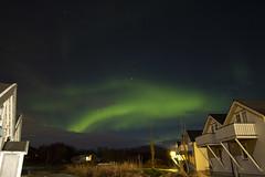 Aurora in background (O.Sjomann) Tags: auroraborealis arcticseasport clouds skyer grønn green houses hus natt night stars stjerner canon7d sigma1020135dchsm naurstad løding tverlandet bodø bodoe nordland norway northernnorway nordnorge norge nordlys