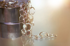 Chained! (Elisafox22) Tags: elisafox22 sony ilca77m2 100mmf28 macro macrolens telemacro hmm macromondays chain silver rings reflections stilllife indoors elisaliddell©2019