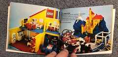 LEGO promo book showing my display model enabling  restoration (GoodPlay2) Tags: 1973 homemaker girls lego vintage old rare early ancien 70s 1970s 70er girly toy set glued shop store window display promo system classic clock kitchen cot grandfather blackboard office legoland