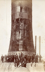 Completion of new stack at Cobar Mine, New South Wales - possibly 1904 (Aussie~mobs) Tags: stack 1904 cobar vintage australia newsouthwales mine mining greatcobarmine