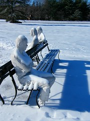 Ignoring Each Other (Stanley Zimny (Thank You for 45 Million views)) Tags: art statue pepsico winter snow light shadowwhite