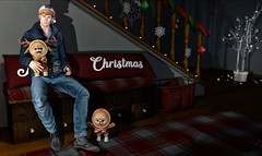 Cute Xmas... (ThiegoFire) Tags: deadwool signature catwa rezzroom exclusive xmas man men boy male style hairstyle art bento colorful pomeranian dog cute night lights fun funny pic photo sl photography locktuft