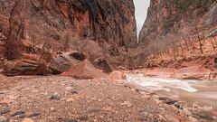 Narrows at Zion Canyon (pboolkah) Tags: springdale red nature canon landscape utah unitedstatesofamerica canon5d zion canon5dmkiv rocks