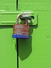 The Green Door (Kevin@Nugent) Tags: green door shadow lock locked rust paint fuji hs25