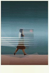 walking 2 (monowave) Tags: woman landscape abstract digitalart artwork gradation