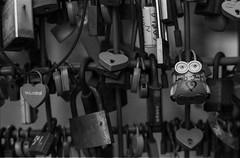 Locks of love (Thanathip Moolvong) Tags: epson v800 nikon fm ilford delta 400 bw film lock love streetart