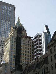 Pencil Tower looking South West from 53rd Street 1631 (Brechtbug) Tags: 2019 plaza hotel with building corner shadow 5th avenue 58th street new york city decoration holiday profile figure art architecture sunlight shadows buildings manhattan uptown midtown near nyc central park 12082019 sunny tower hotels