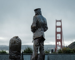 Lone Sailor at the Golden Gate (bgwashburn) Tags: san francisco golden gate bridge vista point lone sailor statue