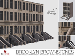 NEW! Brooklyn Brownstones @ Collabor88 (Bhad Craven 'Bad Unicorn') Tags: c8 c88 88 collab orate colabor8 colab88 brooklyn nyx nyc homes brown hood gangsta ghetto hipster houses filler sim 3d art artist gfx graphic design bhadcraven badunicorn unicorns unicorn bad bhad craven secondlife second life sl mesh meshed decor decorative decors home garden gardens builds buildings cool dope graffiti tags snow
