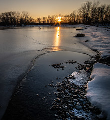 Sunrise Reflection (j-rye) Tags: ilce7rm2 landscape rokinon12mmf20 a7rm2 ice light mirrorless morningsun nature ninemile sky sony sonyalpha starburst sunrise trees water sunburst