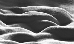 Schnee von Gestern (ebergcanada) Tags: snow abstract detail winter blackandwhite