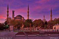 Where East meets West! (Sam Antonio Photography) Tags: bluemosque istanbul turkey sunrise morning travel blue mosque architecture religion landmark dome turkish islam city tourism historic ottoman building minaret exterior islamic sky ancient muslim famous tower sultanahmet culture eastern heritage temple europe history architectural landscape worship constantinople buildings dramatic unescoworldheritagesite unesco byzantium