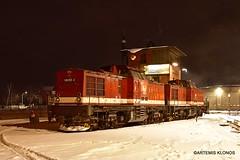 (Artemis & Nikos Klonos) Tags: germany deutschland diesel 2018 ak depot br199 snow hsb wernigerode narrowgauge nightshot