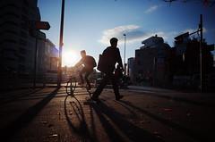 (ademilo) Tags: street streetphotography streetlight sunset sunlight sun sky sunshine shadows shadow city cityscape citylife crowd beautiful backlight beauty bicycle tokyo town townscape transportation japan